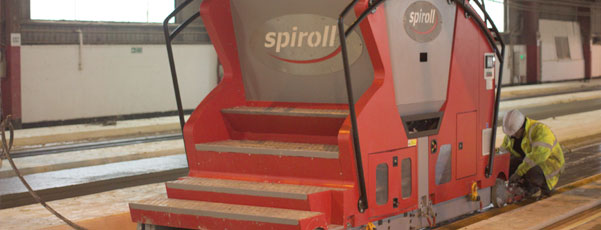 Spiroll_Hollowcore production_factory_hollowcore slabs_extruder
